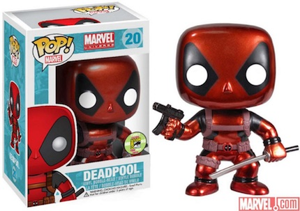 Pop Funko Deadpool Vinyl Figures 20 Metallic