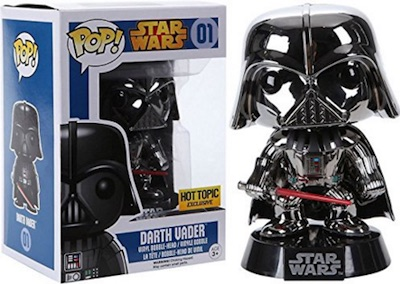 Funko Pop Star Wars 01 Darth Vader Chrome Exclusive Hot Topic