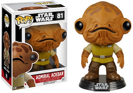 Funko Star Wars Pop 81 Admiral Ackbar