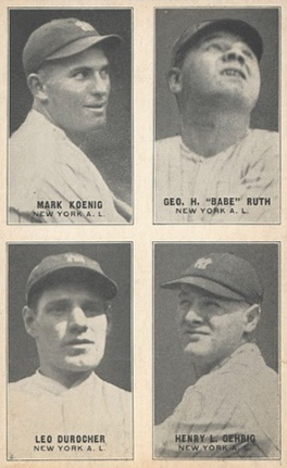 Top 10 Lou Gehrig Baseball Cards 8