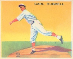 Top 10 Carl Hubbell Baseball Cards 9