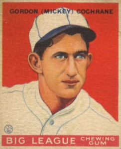 Top 10 Mickey Cochrane Baseball Cards 10