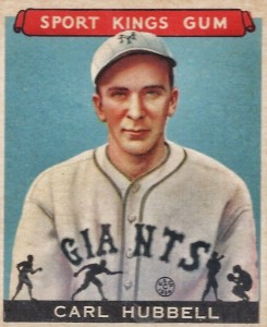1933 Sport Kings Carl Hubbell #42