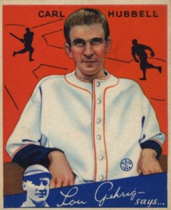 Top 10 Carl Hubbell Baseball Cards 7
