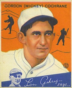 Top 10 Mickey Cochrane Baseball Cards 4