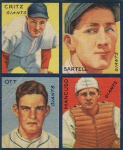 Top 10 Mel Ott Baseball Cards 7