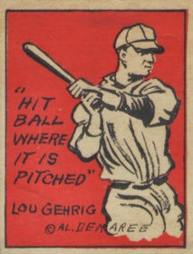 1935 Schutter Johnson Candy Lou Gehrig #20