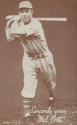 1939-1946 Exhibits Salutation Mel Ott