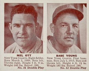 Top 10 Mel Ott Baseball Cards 8