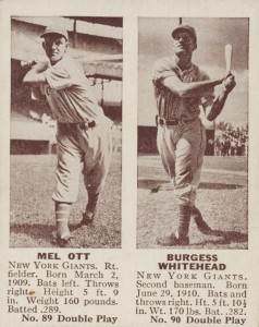 1941 Double Play Mel Ott, Burgess Whitehead #89-#90