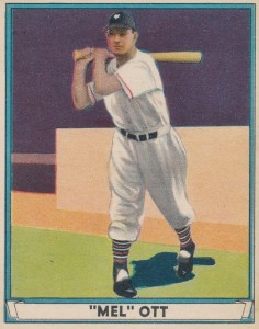 Top 10 Mel Ott Baseball Cards 6