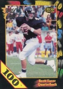 1991 Wild Card Draft Stripes Brett Favre #119 100 stripe