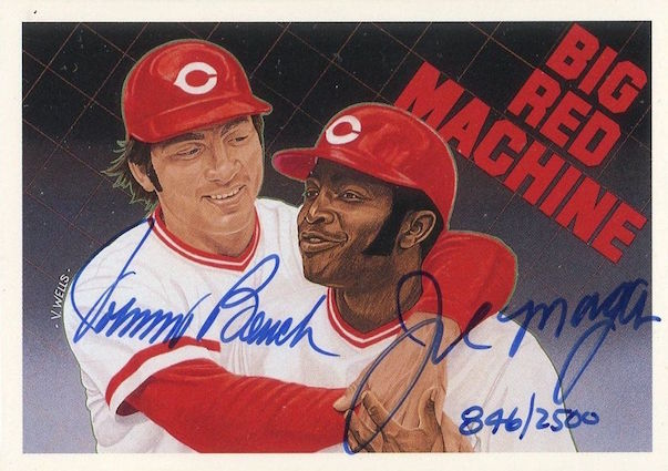 1992 Upper Deck Heores Johnny Bench:Joe Morgan Autograph