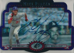 1996 Upper Deck SPx Tribute Mike Piazza Autograph