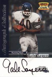 1999 Fleer Sports Illustrated Greats of the Game Gale Sayers Autograph