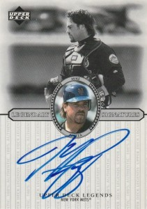 2000 Upper Deck Legends Mike Piazza Autograph