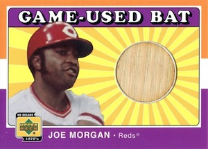 2001 Upper Deck Decades 1970s Baseball Joe Morgan Game-Used Bat