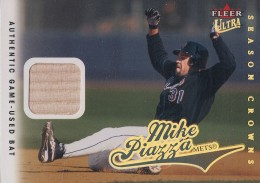 2004 Fleer Ultra Season Crowns Gold Parallel Mike Piazza Game-Used Bat