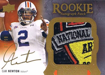 Top 10 Cam Newton Rookie Cards 9