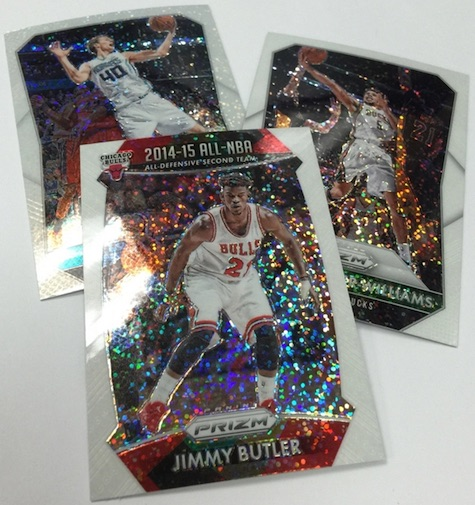 2015-16 Panini Prizm Basketball White Sparkle Prizm Exclusives