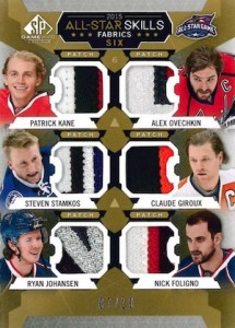 2015-16 SP Game Used Hockey 2015 All-Star Skills Fabrics Six Patch