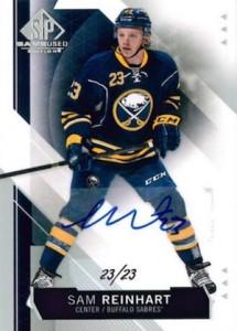 2015-16 SP Game Used Hockey Bas Autograph Reinhart