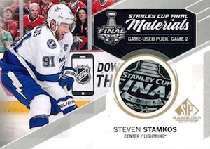 2015-16 SP Game Used Hockey Stanley Cup Final Materials Game Used Puck
