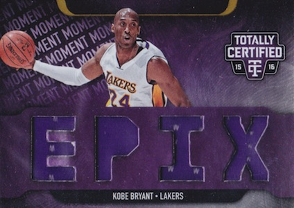 2015-16 Totally Certified EPIX Kobe bryant