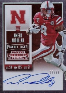 2015 Contenders Football RPS Rookie Ticket Autograph College Variation Abdullah