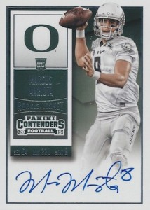 2015 Contenders Football RPS Rookie Ticket Autograph College Variation Mariota