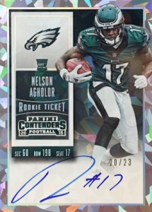 2015 Contenders Football RPS Rookie Ticket Autograph Variation Agholor