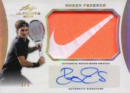 2015 Leaf Ultimate Tennis Match Worn Autographs Roger Federer Nike