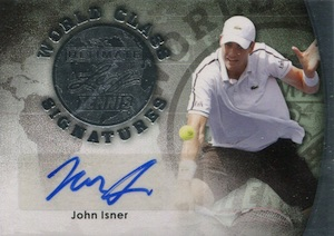 2015 Leaf Ultimate Tennis World Class Autographs Isner