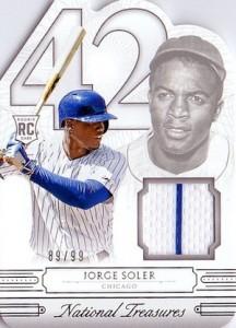 2015 National Treasures Baseball 42 Tribute Relic