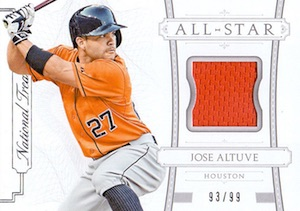 2015 National Treasures Baseball All-Star Relic