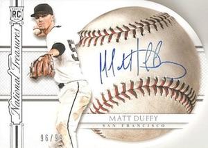 2015 National Treasures Baseball BB Signature Die Cuts Duffy