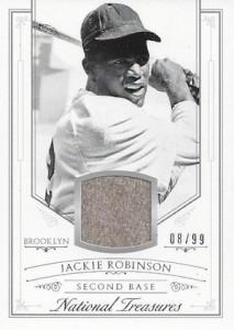 2015 National Treasures Baseball Base Relic Jackie Robinson
