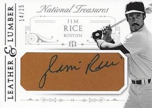 2015 National Treasures Baseball Leather Lumber Signatures