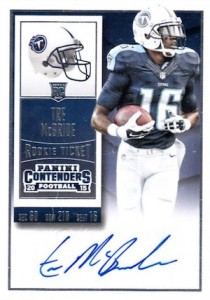 2015 Panini Contenders Football Cards - SP/SSP Print Runs List Added 23