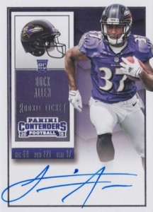 2015 Panini Contenders Football Rookie Ticket RPS Autograph Buck Allen