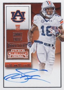 2015 Panini Contenders Football Rookie Ticket RPS Autograph College Variation Coates