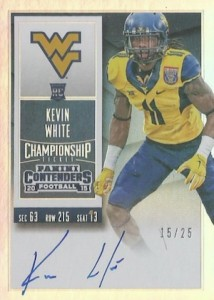 2015 Panini Contenders Football Rookie Ticket RPS Autograph College Variation Kevin White