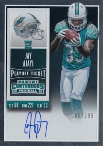2015 Panini Contenders Football Rookie Ticket RPS Autograph Jay Ajayi