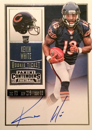 2015 Panini Contenders Football Rookie Ticket RPS Autograph Kevin White