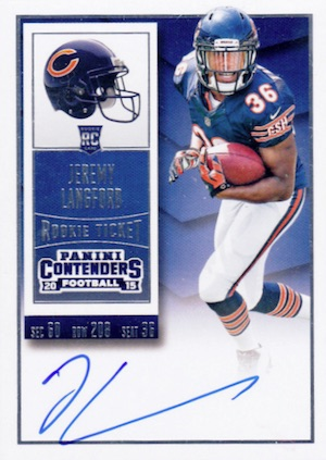 2015 Panini Contenders Football Rookie Ticket RPS Autograph Langford