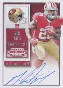 2015 Panini Contenders Football Rookie Ticket RPS Autograph Mike Davis