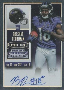 2015 Panini Contenders Football Rookie Ticket RPS Autograph Perriman