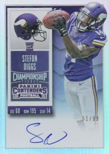 2015 Panini Contenders Football Rookie Ticket RPS Autograph Stefon Diggs