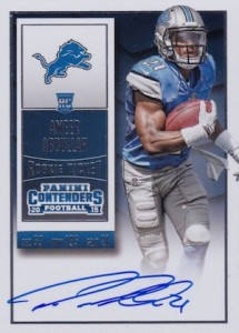 2015 Panini Contenders Football Rookie Ticket RPS Autograph Variation Abdullah
