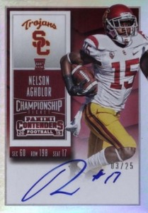 2015 Panini Contenders Football Cards - SP/SSP Print Runs List Added 26